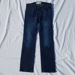 Boys Dark Wash Abercrombie Straight Jeans